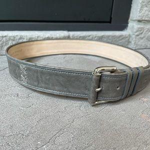 Streets Ahead Gray Leather Belt Size Medium